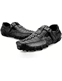 Zxcvb Bonnet Chaussures Cuir pour Hommes Motif Crocodile Fond Mollet  Octopus Souliers Casual pour Hommes Conduite 4df2b387dedc