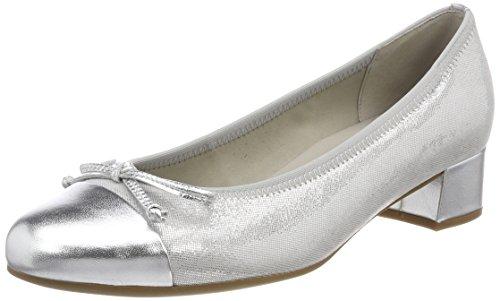 Gabor Shoes Damen Basic Pumps, Grau (Stone/Silber), 43 EU