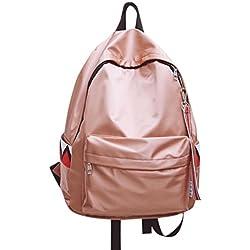 mochilas escolares juveniles impermeable Sannysis bolsos mujer mochila pequeñas casual viaje mochilas mujer pequeñas baratas Satchels Bolsas de hombro (Rosa)