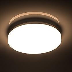 Öuesen 18W imperméable à l'eau LED Plafonnier moderne mince rond LED Lampe de plafond 1650lm Blanc Naturel 4000K Applicable à la salle de bain la chambre la cuisine le salon le balcon et le couloir