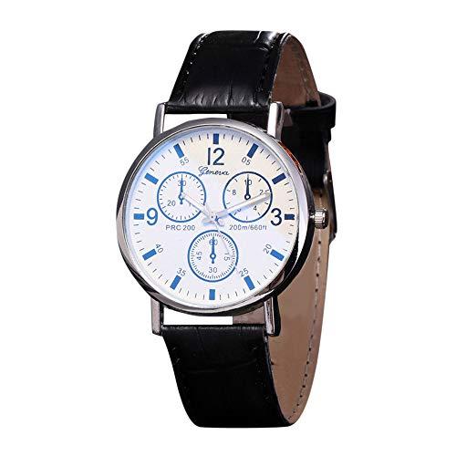 IG-Invictus Blu Ray Ray Watch Neutral Quarz simuliert die Armbanduhr Geneva Blu-ray Watch Neutral Uhr Blu-ray Black Belt White Face
