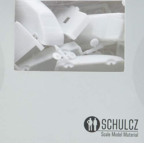 Schulcz 03-40991 Architektur, Diorama, Modellbau Architekturmodellbau Strassenbild Set, M=1:100 (10 Stück), weiß