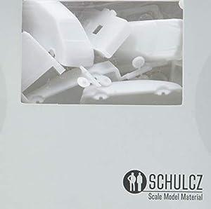 schulcz 03-40991Arquitectura, Arquitectura Diorama Modelismo, Modelo Diseño Brillantes de Juego, M = 1: 100(10Unidades), Color Blanco