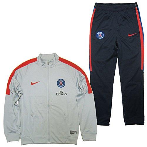 Nike PSG e NK Dry SQD TRK Suit K Tuta Parφs Saint-Germain FC per Uomo, Grigio (Wolf Grey / Wolf Grey / University Rete), L