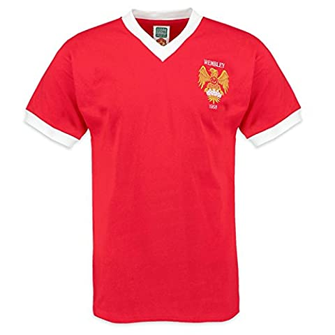 Manchester United FC Official Gift Mens 1958 FA Cup Retro Kit Shirt Red Small