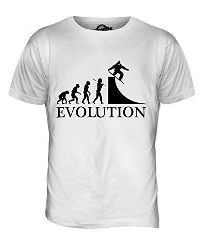 CandyMix Snowboarden Evolution Des Menschen Herren T Shirt Weiß