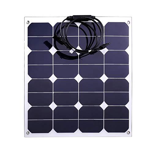 AIflyMi 18V 50W Sonnenkollektor-Ladegerät wasserdicht für 12V-Batterie, Wohnmobil, Boot, Kabine, Zelt, Auto, Anhänger, andere Netzanwendungen -