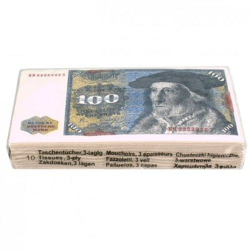 Generique 10 Geldschein Taschentücher 100 DM Schein