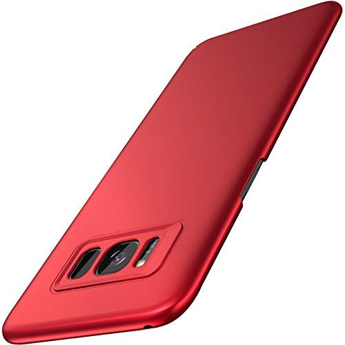 RANVOO Galaxy S8 Hülle Case, S8 Hülle Case Kunststoff Handyhülle Kameraschutz Schutzhülle Slim Matt Hardcase Anti-Kratzer Anti-Fingerabdruck Cover Case für Samsung Galaxy S8, 5.8 Zoll (Rot)
