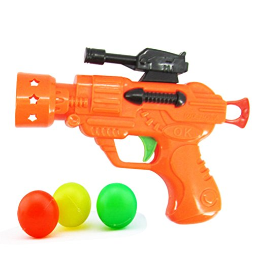 TOYMYTOY Spielzeugblaster Tennis Ball Blaster Spielzeug für Kinder Geburtstag Party Geschenk (Zufällige Farbe)