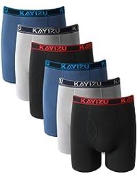 KAYIZU Men's Underwear Ultimate Soft Cotton Boxer Shorts (6-Pack)