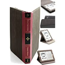 Lifemac Leather CLASSIC BOOK / VINTAGE BOOK STYLE iPad Case, Featuring CHARLES DICKENS, GREAT EXPECTATIONS. Brown Cover with GOLD LEAF Lettering. New iPad 4, iPad 3, iPad 2nd Generation, 360° rotatable bookbook. Have it facing North, West, East, or South. Twelve 12 designs available.