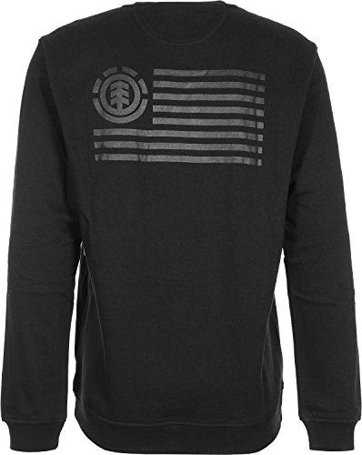 Herren Sweater Element 92 Crew Fleece Sweater Black