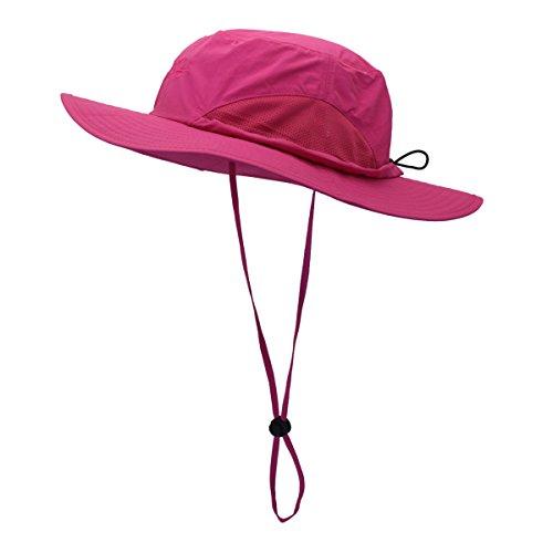LLmoway Outdoor Herren Breite Krempe Sonnenschutz Schutz Netz Hat Coole Bucket Cap LSF 50+, Herren, Rosarot, Medium -