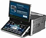 """TUVVA KSD7701 Universal 2-DIN Auto-Stereoanlagen mit 6.95"""" & 7"""" Doppel Monitor, unterstützt GPS/MobileLink/Bluetooth/USB/DVD/CD/MP3/MP4/AM/FM Radio/hinten Kamera/Fernbedienung (8 GB Karte enthalten)"""