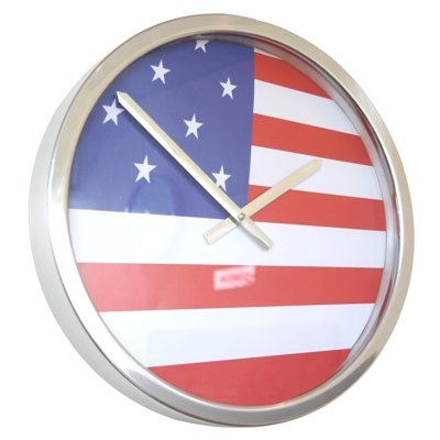 Roco Verre Flaggenuhr 35cm USA (35cm Durchmesser)