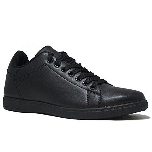 Un Confort pour femme course à pied sport dentelle jusqu'à formateurs Sneakers Taille Noir - Noir