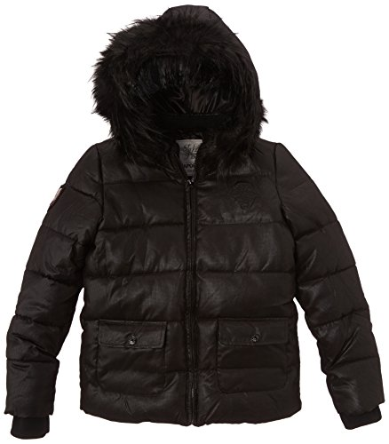 Kaporal 5 Jeans Milsh14G62 - Abrigo para niñas, Noir Black, 16 años 170 cm