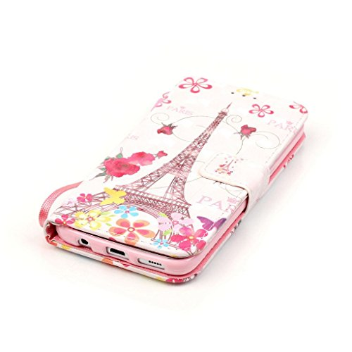 Uming® Il modello della stampa della custodia per armi variopinta della copertura Holster Cover Case ( Colorful feathers - per IPhone 6 6S IPhone6S IPhone6 ) Flip-artificiale in pelle con staffa suppo Butterfly Tower