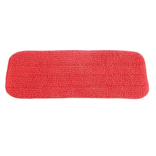 Ersatztuch Microfaser Ersatzmopp Pad Paste Stoffbezug Spray Wasser Sprühen Flachstaub (Color : Red) ()
