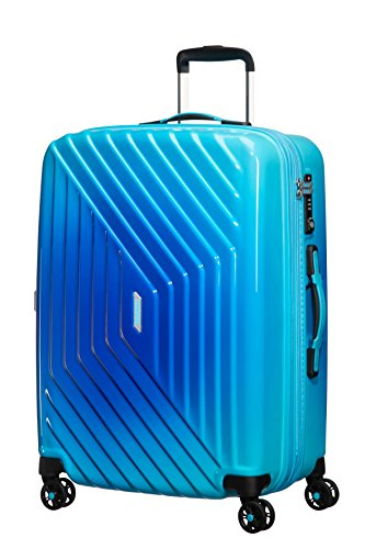 American Tourister Air Force 1 Spinner 66/24 Tsa Expansible Grad Maleta, 81 Litros, Color Azul