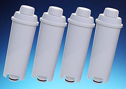 4 x Filterpatrone AquaCrest für Delonghi komp. SER3017 DLS C002