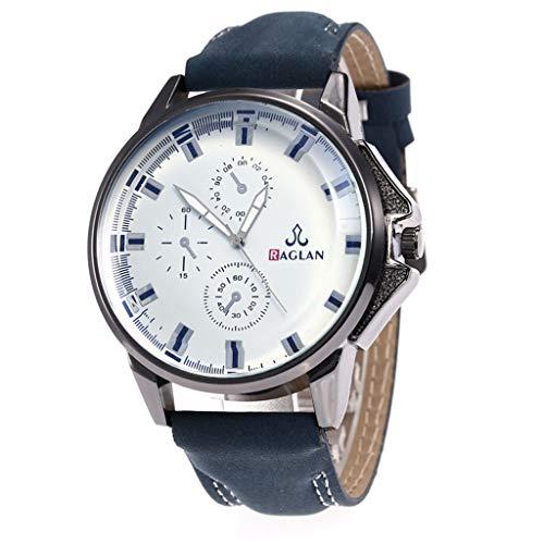 Uhren TTLOVE Herren Analoge mit Leder Armbanduhr Klassik Männer Outdoor-Abenteuer Quarzwerk Uhr
