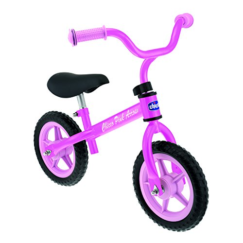 Chicco First Bike - Bicicleta sin pedales con sillin regulable, color rosa, 2-5 anos