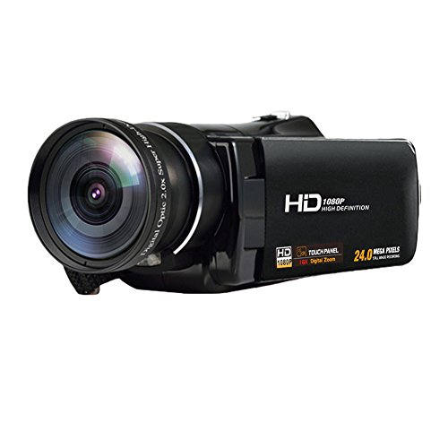 MARVUE Camcorder Camera FHD 1080p 24.0MP Wide Angle 3 Inch Touch Screen Portable Digital Video Recorder