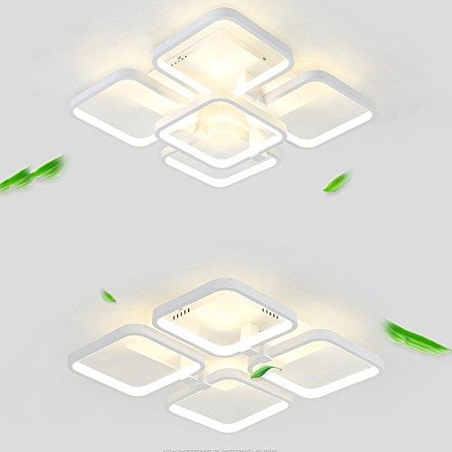 LXSEHN LED8026 Plafond Lumière Salle D'étude Luminaire Moderne Simple Caractère Grand Carré Treillis Chambre Lumière Salle D'étude Lumière Lampe d'éclairage de plafonnier Lanternes ( Couleur : Lumière blanche-4/45*45cm )
