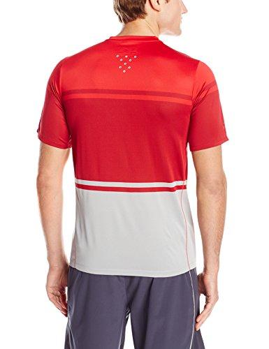 New Balance Men's Tournament Crew Shirt, Chrome Red, Large Chrome Red