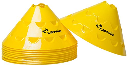 Cawila Hütchen Multischeiben, 10er Set, Gelb, 15 cm, 00500157