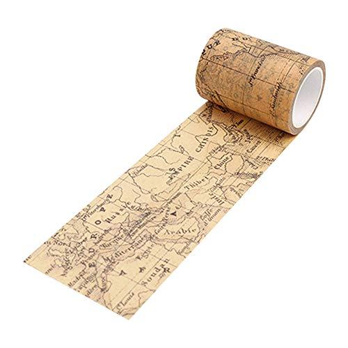 Vintage Washi Tape Dekoratives Papier Masking Tape DIY Klebeband Scrapbook Aufkleber Amesii Weltkarte - Weltkarte Scrapbook-papier