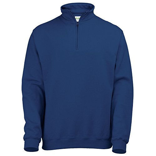 AWDis Uomo Sophomore ¼ Felpa Con Zip Nuovo Blu Francese