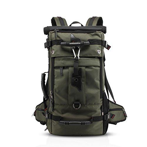 FANDARE Bergsteigen Rucksack Daypack 17 Zoll Laptoprucksäcke Wanderrucksäcke Fahrradrucksäcke Notebook Arbeit Reisen Herren Damen Hohe Kapazität Wasserdicht Polyester Grün