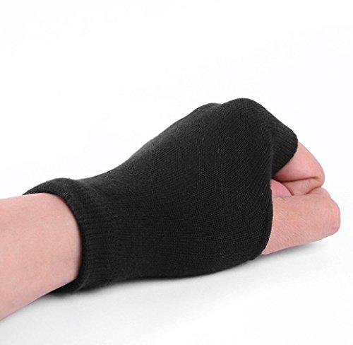 dingsheng Einfarbig Half-Finger-Handschuhe Frauen Warm Keeper Mode Weichen Handschuh Winter Warme Baumwolle Stricken Handschuhe -