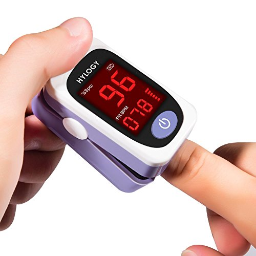 Hylogy Oxímetro de Pulso Oxígeno Digital de Sangre con Cable para Llevar  Aaprobado por la FDA y la CE (Rojo)