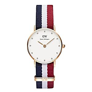 Daniel Wellington Damen-Armbanduhr XS Classy Cambridge Analog Quarz Nylon 0907DW
