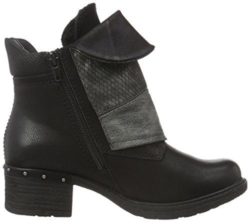 Rieker 92743, Stivaletti Donna Nero (schwarz/black-silver/grey/altsilber/schwarz / 00)