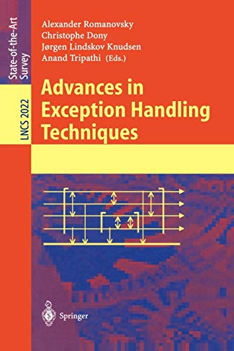 Advances in Exception Handling Techniques (Lecture Notes in Computer Science)