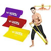 Resistance Bands Set Exercise Bands, Pilates Resistance Bands with 3 Resistance Levels-1.5M/1.8M/2M Exercise Bands Resistance for Women and Man, Perfect for Pilates, Yoga, Rehab, Stretching, workout
