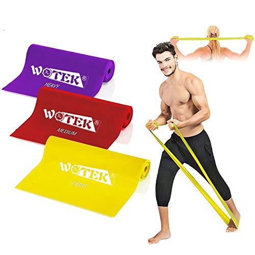 Wotek Fitnessbänder Set widerstandsbänder krafttraining Fitnessband Theraband Resistance band-3x Widerstandsband,Gymnastikband,Trainingsband für Muskelaufbau Crossfit Gymnastik Yoga Für Männer Frauen