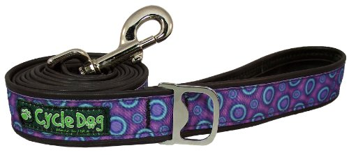 cycle-dog-bottle-opener-recycled-dog-lead-purple-space-dots-4-foot