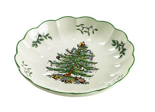 Spode Christmas Tree 8-Inch Round Fluted Dish by Spode Spode 8 Zoll