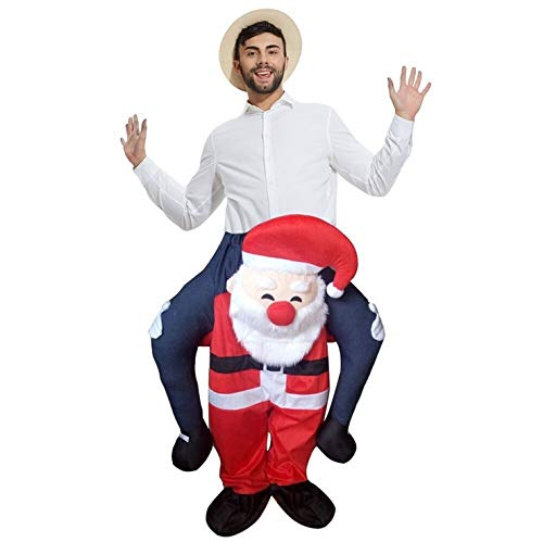 Erwachsenenkostüm Carry Me Ride On Santa Claus, lustiges Weihnachts-Kostüm (Carry Me Kostüm Weihnachten)