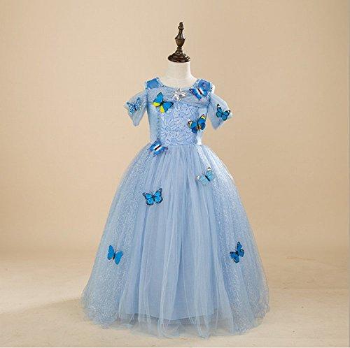 Girl 's Mädchen Party Outfit Fancy Kleid Snow Queen Prinzessin Halloween Kleidung Karneval Cosplay Kleid–kurzen Ärmeln ()