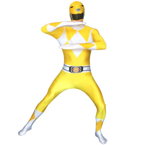 Yellow Ranger Kostüm Power - Morphsuits Kostüm Roter Power Ranger für Erwachsene