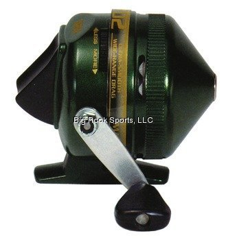 Zebco 202K-BULK Spincast Reel with 75-Yards of 10-Pound Premium Line, Green Finish by Zebco -