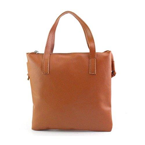 zahuihuiM Damen Mode Solide Handtasche Schultertasche Großer Tote Geldbörse (Korb Geldbörsen)