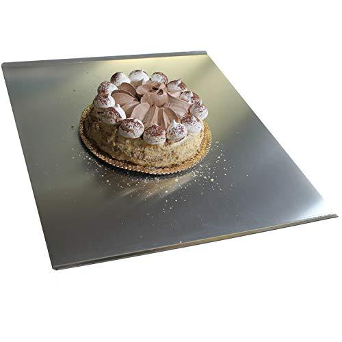 Oneclod - piano lavoro cucina con bordi tagliere acciaio inox satinato da portata spianatoia per impastare con tappeto antiscivolo vassoio design made in italy